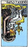 Queen of Cups reversed, Rider Waite Tarot, U.S. Games Systems