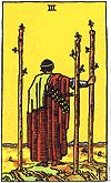 3 of Wands, Rider Waite Tarot, U.S. Games Systems